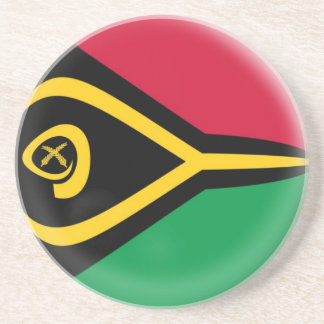 Sandstone Coaster - Vanuatu flag
