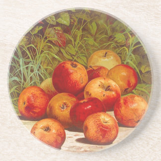 Sandstone Coaster with Apples