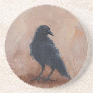 Sandstone Coaster with Crow