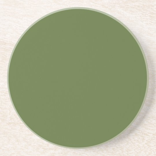 Sandstone Drinks Coaster - Dark Olive Green