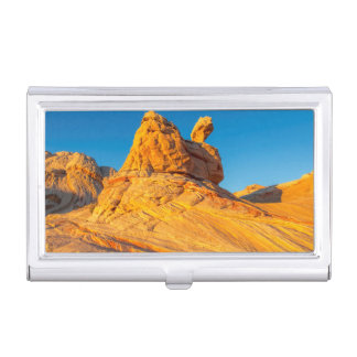 Sandstone Formations At The White Pocket 3 Business Card Holder