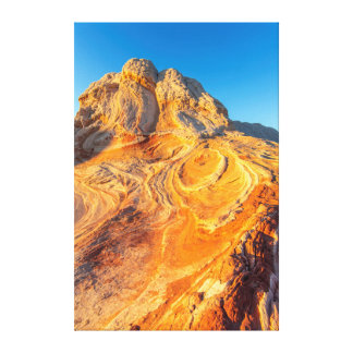 Sandstone Formations At The White Pocket 3 Canvas Print
