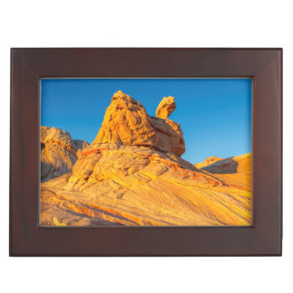 Sandstone Formations At The White Pocket 3 Keepsake Box