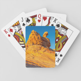 Sandstone Formations At The White Pocket 3 Playing Cards