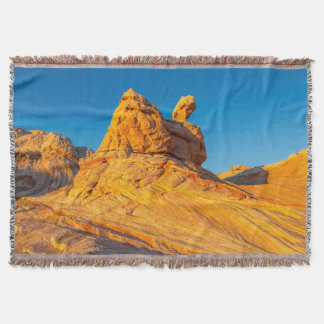 Sandstone Formations At The White Pocket 3 Throw Blanket