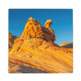 Sandstone Formations At The White Pocket 3 Wood Coaster