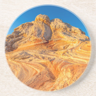 Sandstone Formations At The White Pocket Beverage Coaster