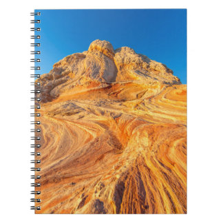 Sandstone Formations At The White Pocket Spiral Note Book