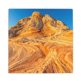 Sandstone Formations At The White Pocket Wood Coaster