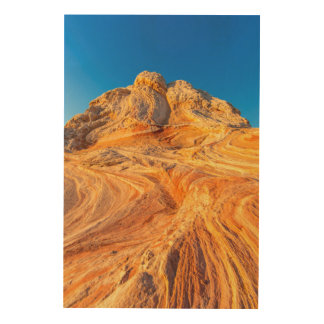 Sandstone Formations At The White Pocket Wood Wall Art