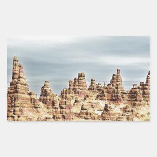 Sandstone Mountains Rectangular Sticker