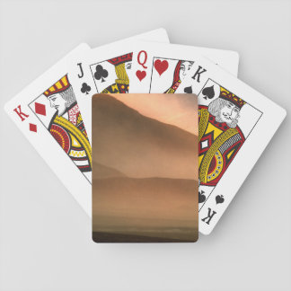 Sandstorm at Mesquite Sand Dunes, Sunset Playing Cards