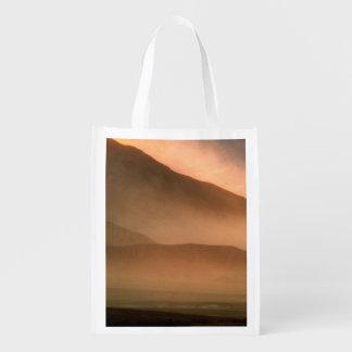 Sandstorm at Mesquite Sand Dunes, Sunset Reusable Grocery Bag