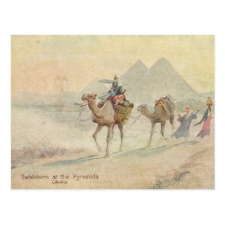 Sandstorm at Pyramids Postcard