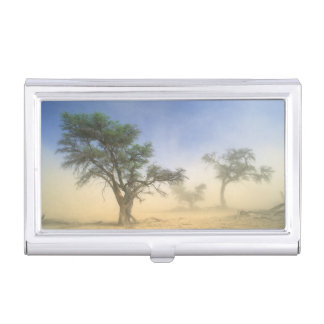 Sandstorm In Kalahari Desert, Kgalagadi Business Card Holder