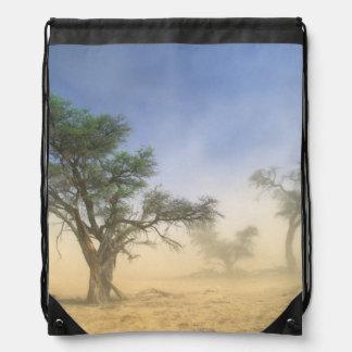 Sandstorm In Kalahari Desert, Kgalagadi Drawstring Backpacks