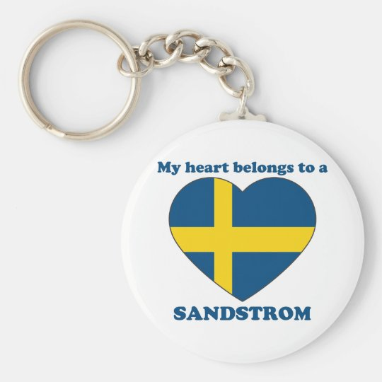 Sandstrom Basic Round Button Key Ring