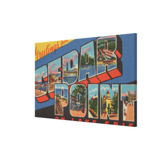 Sandusky, Ohio - Lake Erie - Cedar Point Canvas Print