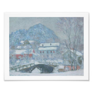 Sandviken Norway in the Snow Photo Print