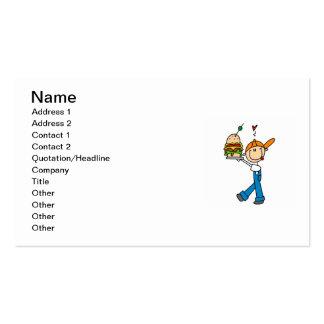 Sandwich Connoisseur Stick Figure Pack Of Standard Business Cards