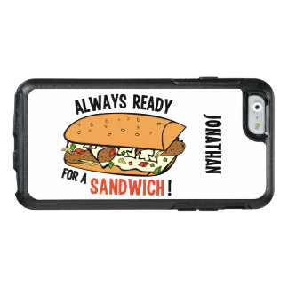 Sandwich custom name phone cases