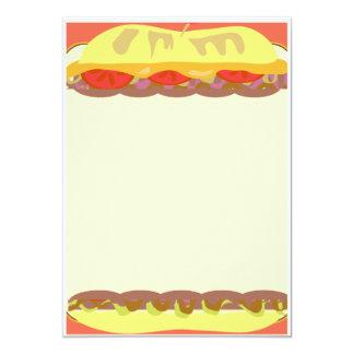Sandwich Stationery 13 Cm X 18 Cm Invitation Card