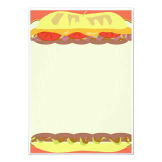 Sandwich Stationery Custom Announcement