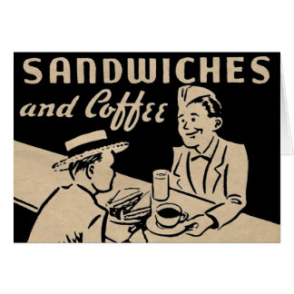 Sandwiches and Coffee Card