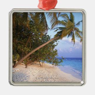 Sandy Beach 10 Silver-Colored Square Decoration