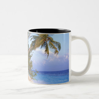 Sandy Beach 10 Two-Tone Coffee Mug