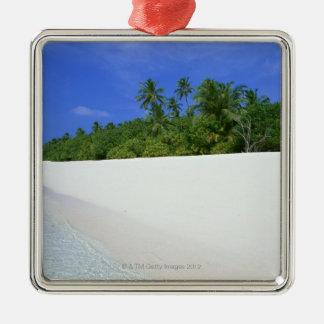 Sandy Beach 11 Silver-Colored Square Decoration