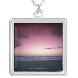 Sandy Beach 2 Silver Plated Necklace