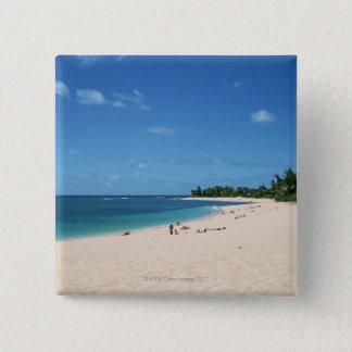 Sandy Beach 3 15 Cm Square Badge