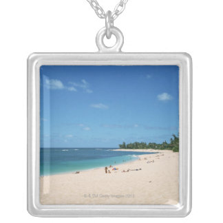 Sandy Beach 3 Silver Plated Necklace