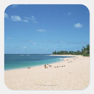 Sandy Beach 3 Square Sticker