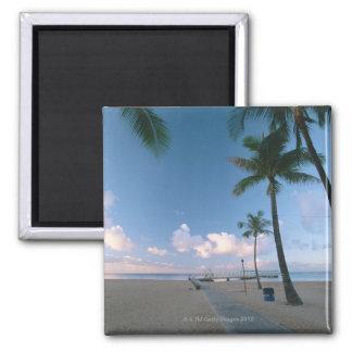 Sandy Beach 4 Square Magnet