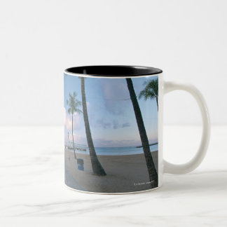 Sandy Beach 4 Two-Tone Coffee Mug