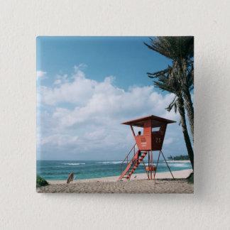Sandy Beach 5 15 Cm Square Badge