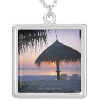Sandy Beach 6 Silver Plated Necklace