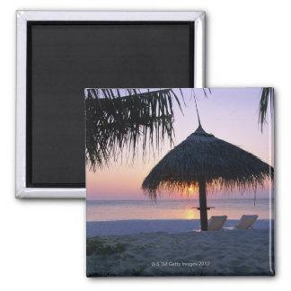 Sandy Beach 6 Square Magnet