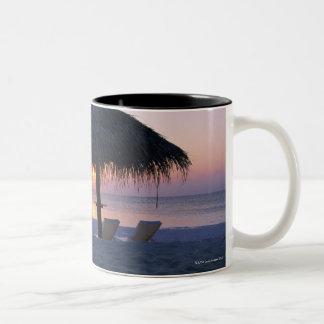 Sandy Beach 6 Two-Tone Coffee Mug