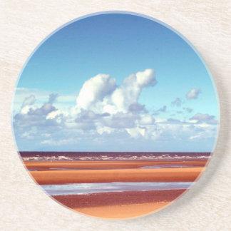 Sandy beach coaster