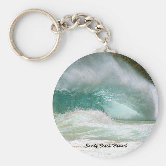 Sandy Beach Hawaii Basic Round Button Key Ring