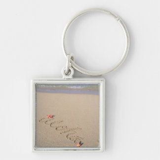 Sandy beach key ring