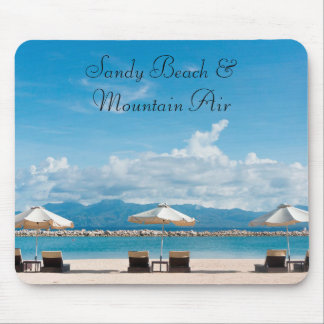 Sandy Beach & Mountain Air Nature Mouse Pad