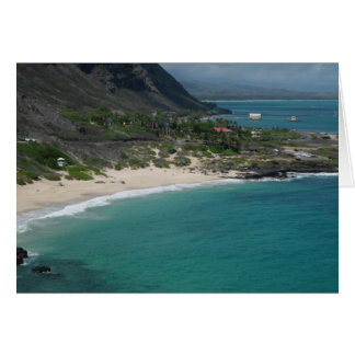 Sandy Beach, Oahu, Hawaii Card