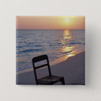 Sandy Beach of Sunset 15 Cm Square Badge
