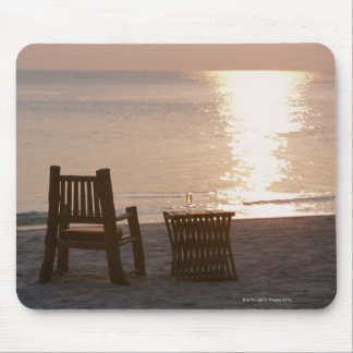 Sandy Beach of Sunset 2 Mouse Pad