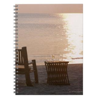 Sandy Beach of Sunset 2 Notebook