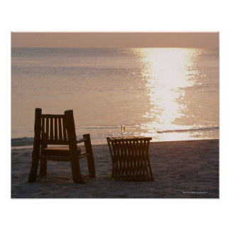 Sandy Beach of Sunset 2 Poster